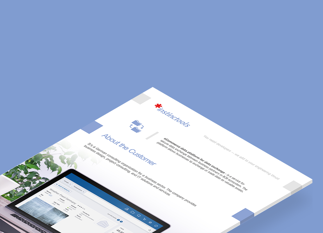 eCommerce data platform for data exchange(1)